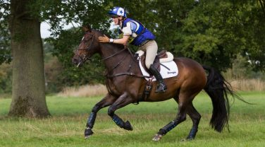 Horse with Dengie Saddle running through field