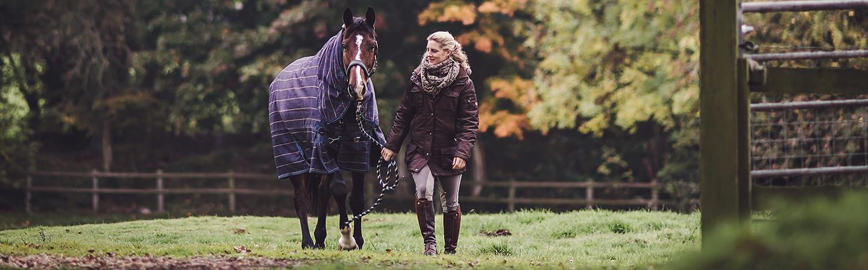 Grass Range Horse in Rug