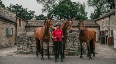Tanya and 3 horses
