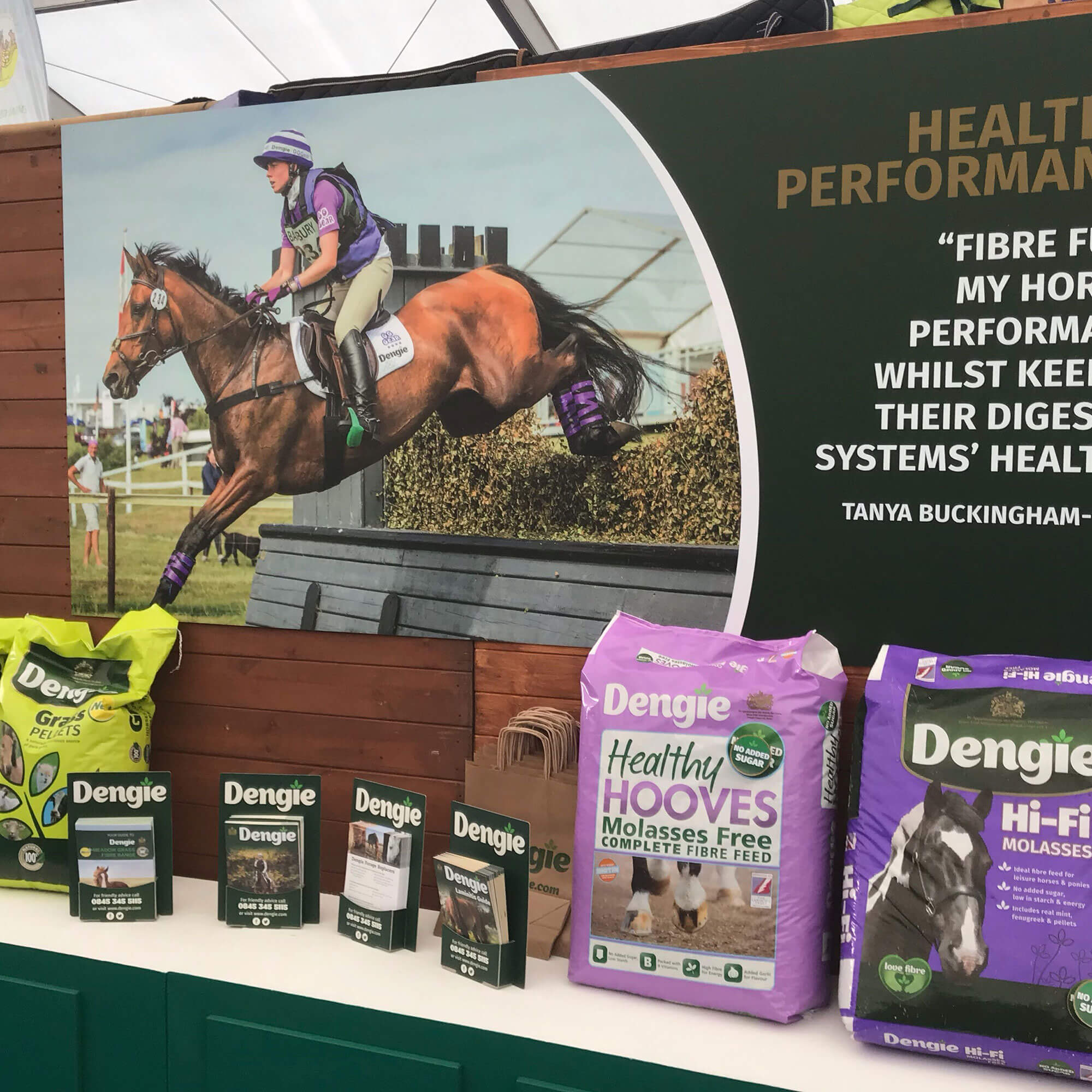 Horse food display stand