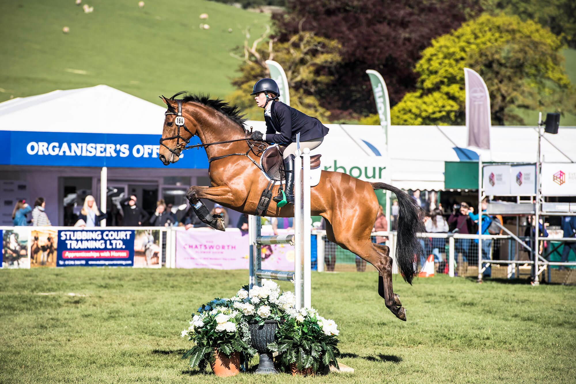 Tanya Horse jumping at show