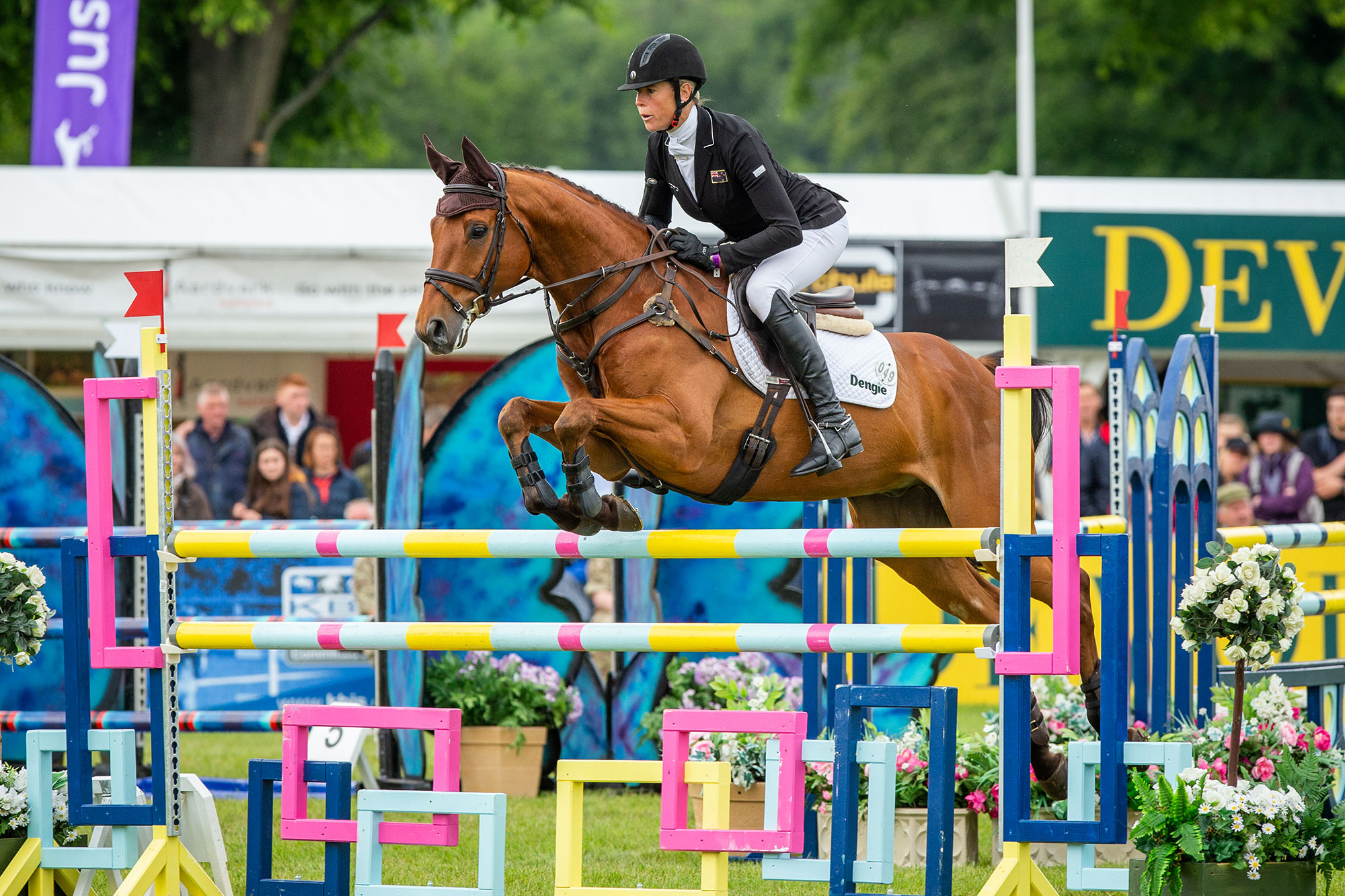 Lucy Jackson and Superstition at Bramham Horse Trials Showjumping