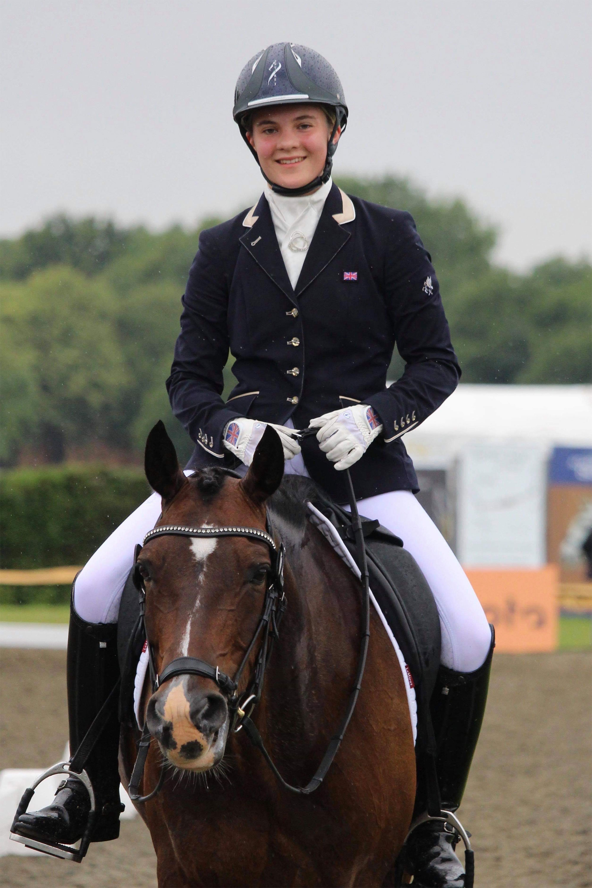Olivia Whitelaw and Leo at Hickstead CDIP
