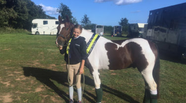 Maisie Randle and Felix at the Pony Club Regional Championships
