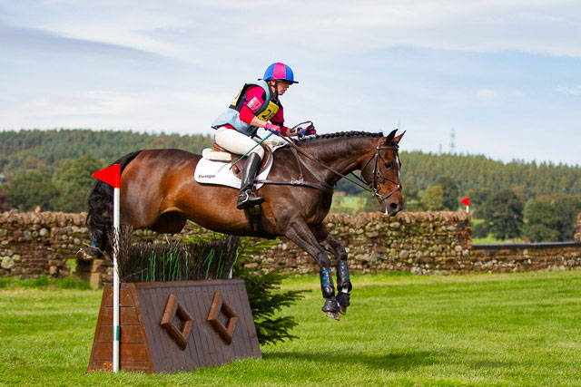 Brook Howells and Templebrook Boy, cross country at Frenchfield Novice