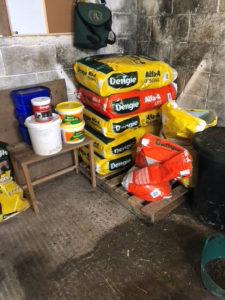 dengie bales in feedroom