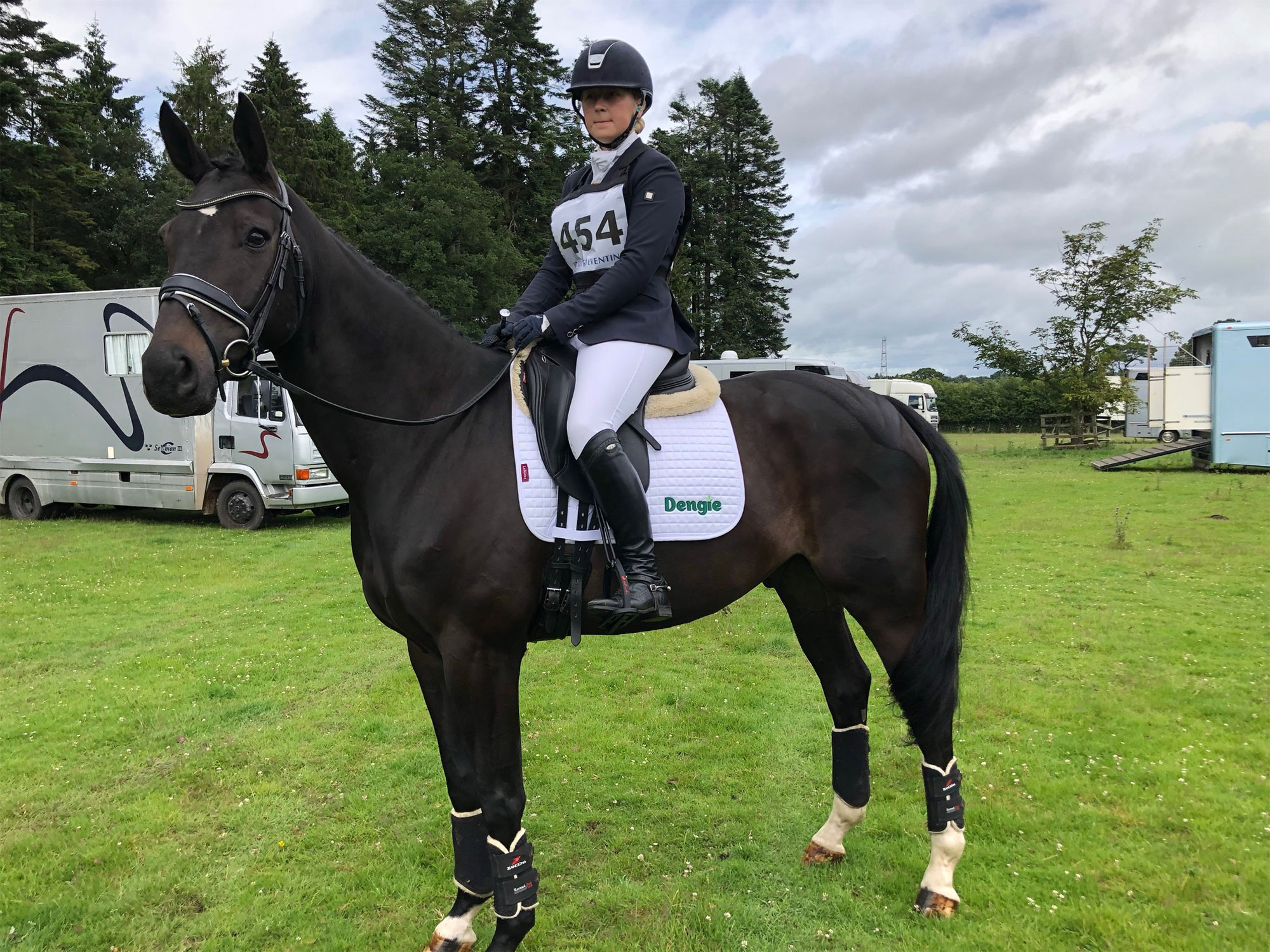 Horse and Rider prepared for Competition