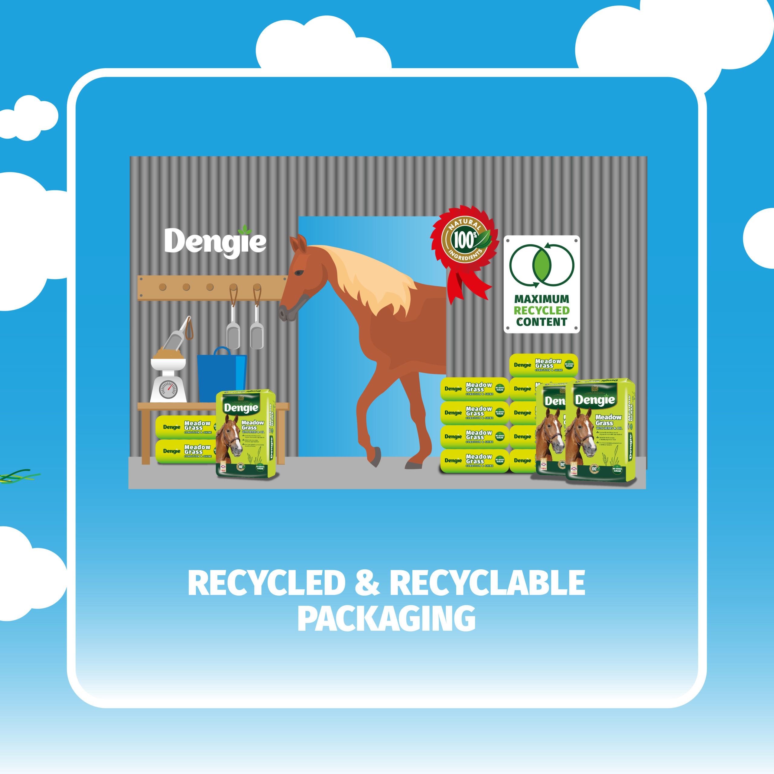 Recycled and recyclable packaging
